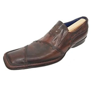 Mark Nason Rock Loafers Patchwork Brown Leather 8